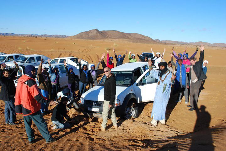 Morocco South discovery via sahara desert